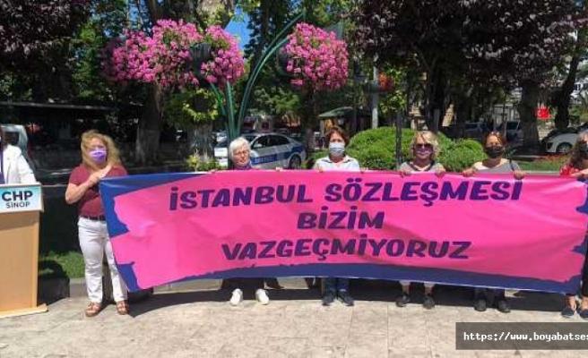 Sinop'ta CHP'li kadınlar İstanbul Sözleşmesi için toplandı