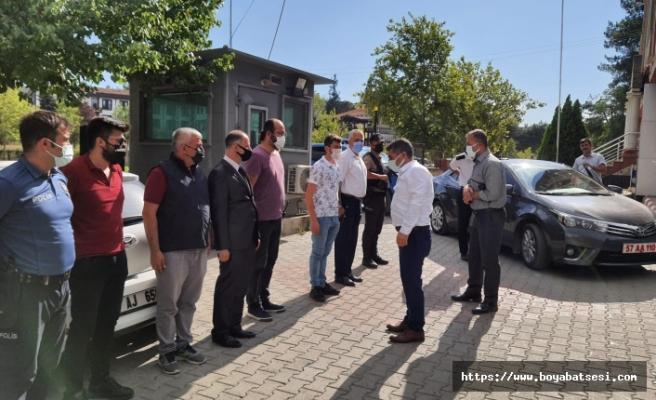 Kaymakam Çetin'den bazı kurumlar ve şehit yakınlarına bayram ziyareti