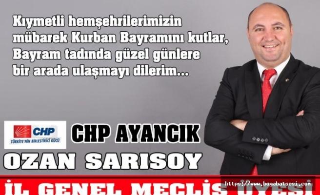 Ozan Sarısoy '' Kurban Bayramınız mübarek olsun ''