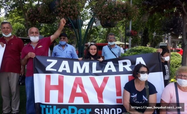 TükoDer Sinop şubesinden zamlara tepki