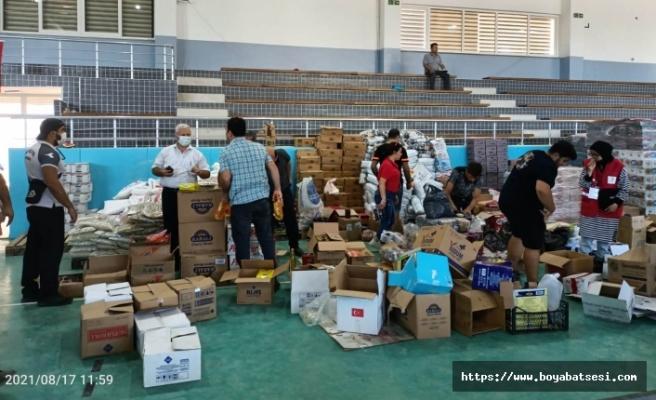 Boyabat Gençlik ve Spor Müdürlüğü'nden Ayancık'a destek