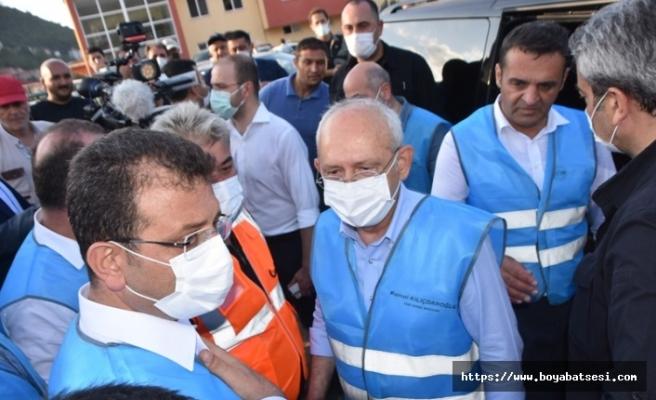 Kemal Kılıçdaroğlu ve Ekrem İmamoğlu Ayancık'ta