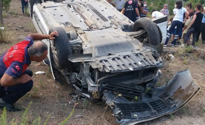 Sinop Boyabat yolunda trafik kazası 2'si çocuk 6 yaralı