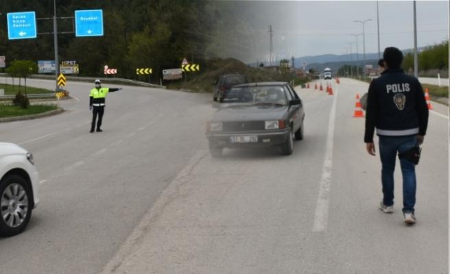 169 araç trafikten men edildi