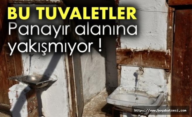 Boyabat Panayır alanında bulunan tuvaletler vatandaşların tepkisini çekiyor