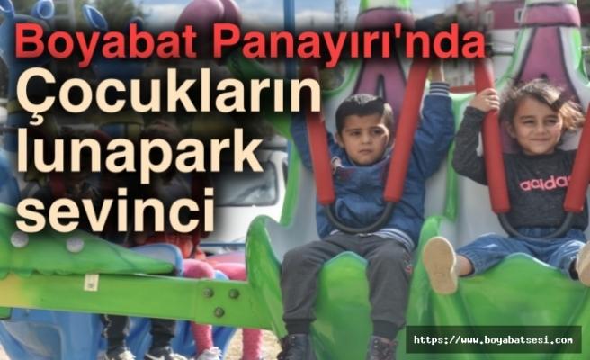 Boyabat Panayırı'nda çocukların lunapark sevinci