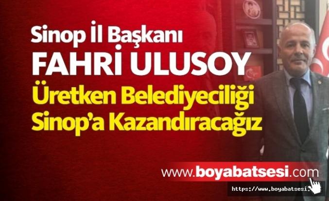 Milliyetçi Haraket Partisi Sinop İl Başkanından Açıklama