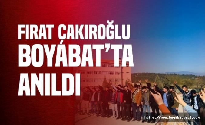 Boyabat Ülkü Ocakları Fırat Çakıroğlu'nu Unutmadı