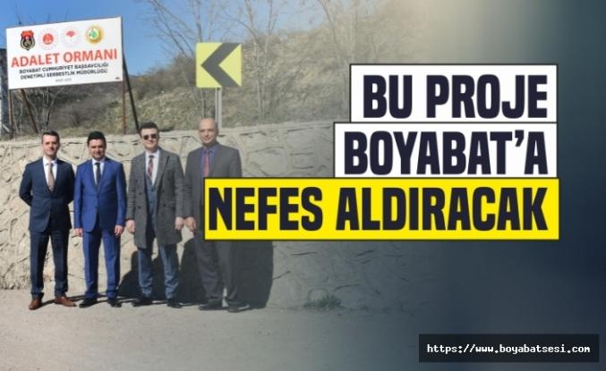 Boyabat'ta Denetimli Serbestlik Hükümlüleri Fidan Dikti