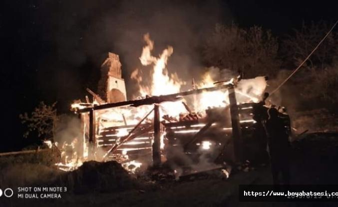 Paşalıoğlu Köyünde Ev Yangını