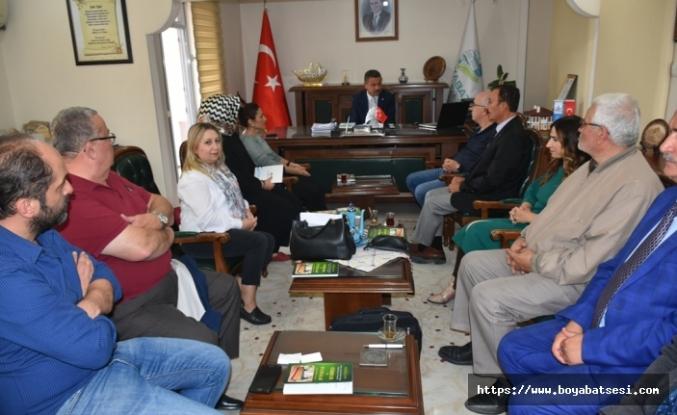 Samsun ve Sinop Üniversiteleri Heyetlerinden Boyabat Belediyesine Ziyaret