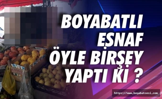 Boyabat'ta pazarcı esnafı öyle birşey yaptı ki ?