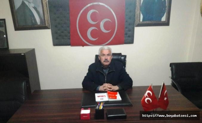 Boyabat MHP ilçe başkanı Mehmet Fevzi Erdoğan'dan basın açıklaması