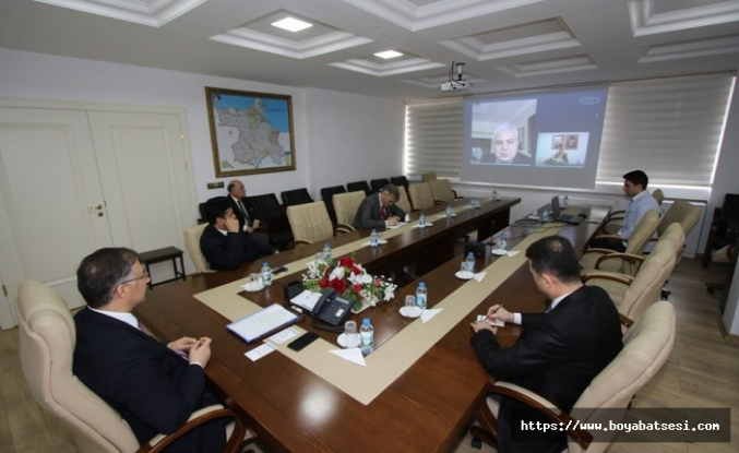 Vali Şakalar video konferans ile Fatih Aksoy'dan bilgi aldı