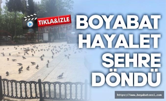 Boyabat'ta hayat durdu, caddeler boş kaldı