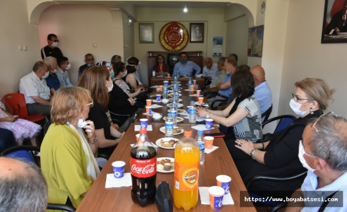 CHP Sinop il yönetiminden yeni ilçe başkanı Hasan Sıtkı Mor'a hayırlı olsun ziyareti