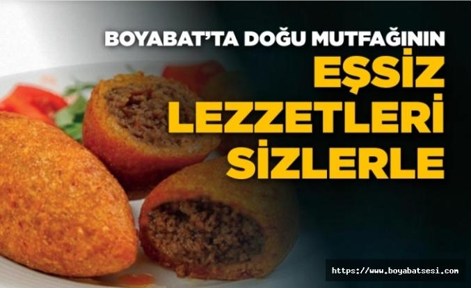 Boyabat'ta doğu mutfağının eşsiz lezzetleri sizlerle