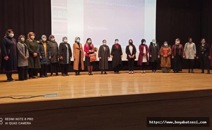 Boyabat Ak Parti Kadın Kollarından Kanserle Savaş semineri