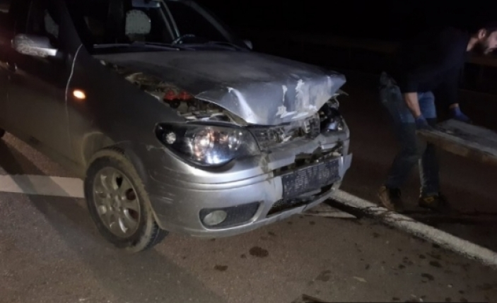 Taşmanlı yolunda trafik kazası