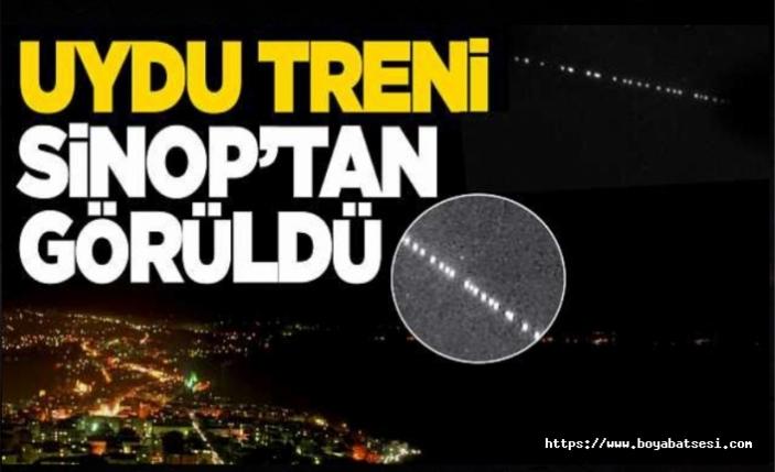 Gökyüzündeki uydu treni Sinop'tan görüldü
