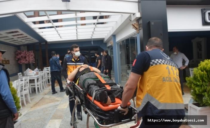 Cam silerken düşen temizlik işçisi yaralandı