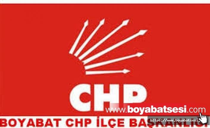 Boyabat CHP İlçe Başkanlığı Basın Açıklaması