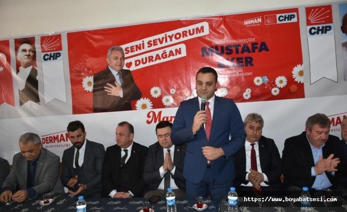 CHP Durağan Belediye Başkan Adayı Mustafa Eker Projelerini Açıkladı