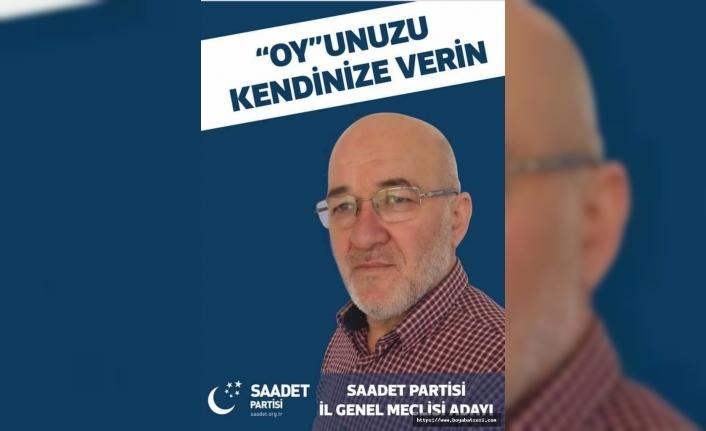 Saadet Partisi İl Genel Meclisi Adayı Ali Erol açıklamalarda bulundu.