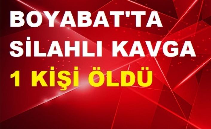 Boyabat'ta silahlı kavga: 1 Ölü