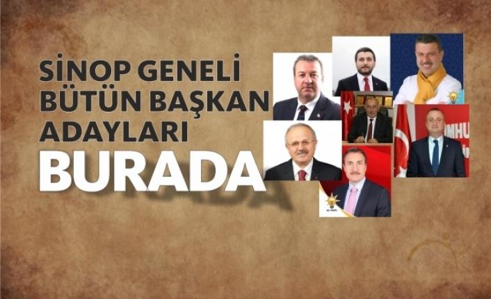 İşte Sinop Geneli Bütün Belediye Başkan Adayları