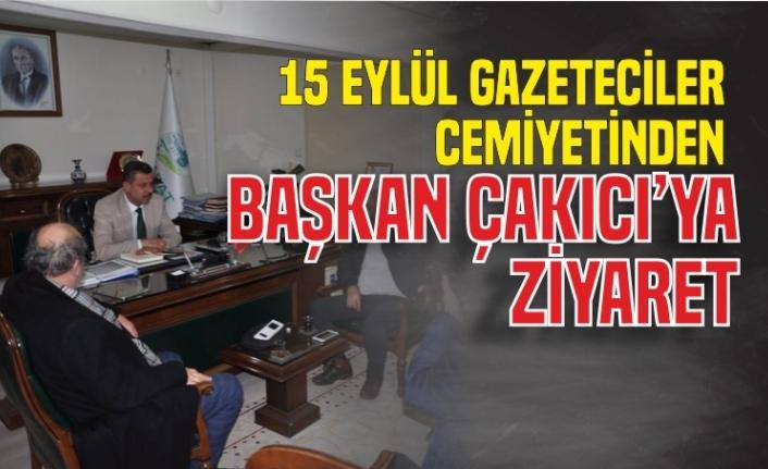 Sinop 15 Eylül Gazeteciler Cemiyeti'nden Başkan Çakıcı'ya Ziyaret