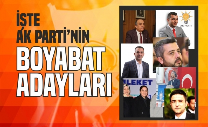 Boyabat Ak Parti İl Genel Meclis ve Belediye Meclis Adayları Belli Oldu