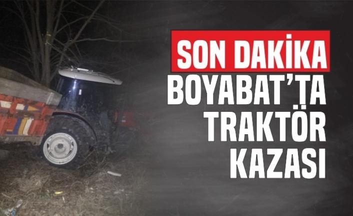 Boyabat'ta Traktör Kazası 1 Yaralı