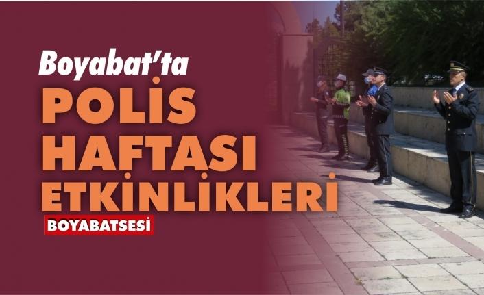 Boyabat'ta Türk Polis Teşkilatının 175.Yılı etkinlikleri