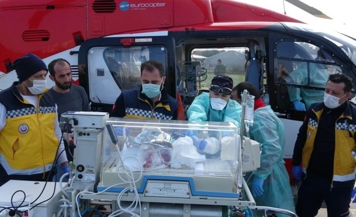 Helikopter 6 aylık bebek için havalandı