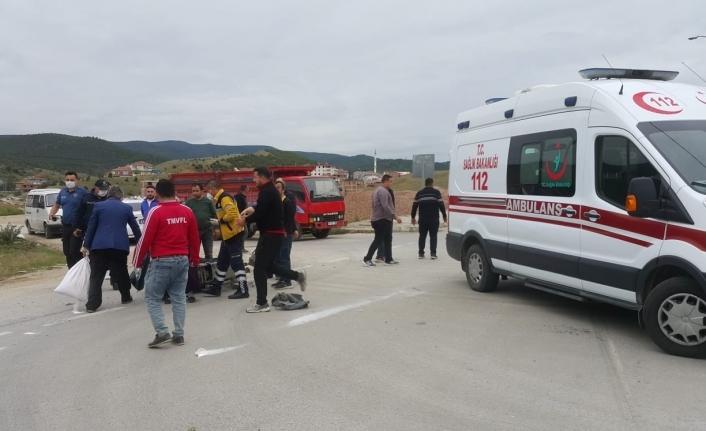 Boyabat Daylı Stadı önünde motosiklet kazası !