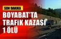 Boyabat'ta Trafik Kazası 1 Ölü