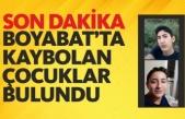 Boyabat'ta Kaybolan Çocuklardan Sevindirici Haber Geldi