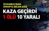 Boyabat Kastamonu Yolunda 2 otomobil çarpıştı: 1 ölü, 10 yaralı