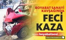 Boyabat Sanayi Kavşağında Otomobil İle Traktör Çarpıştı