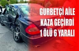 Sinoplu Gurbetçi Aile Kaza Yaptı 1 Ölü 6 Yaralı