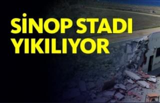 Sinop Stadı Yıkılıyor