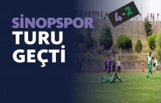 Sinopspor Ziraat Türkiye Kupası Maçında Ünyespor'u...