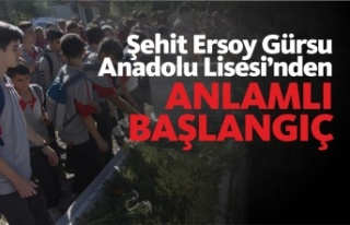 Boyabat Şehit Ersoy Gürsu Anadolu Lisesinden Anlamlı...