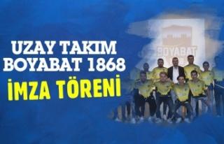 Boyabat 1868 Spor Kulübü İmza Töreni Gerçekleştirdi