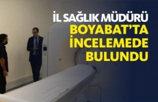 İl Sağlık Müdürü Dr. Mehmet Erşan Boyabat'ta...