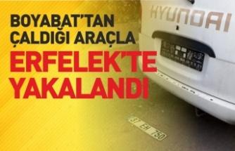 Boyabat'tan Çaldığı Araçla Erfelek'te Yakalandı