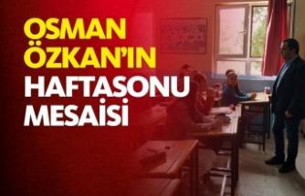 Boyabat Milli Eğitim Müdürü Osman Özkan'ın Haftasonu Mesaisi
