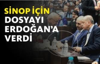 Dosyayı Cumhurbaşkanı Erdoğan'a Verdi