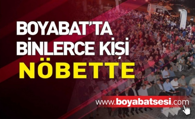 Boyabat'ta 15 Temmuz Demokrasi Nöbeti